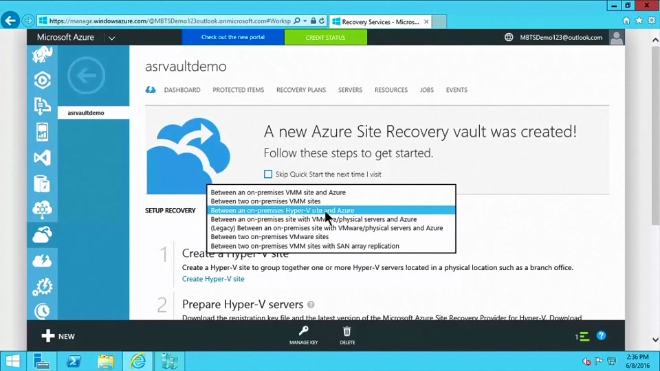 Part 2) How to Setup and Protect Hyper-V Virtual Machines with Azure