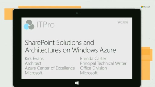 SharePoint Solutions and Architectures on Windows Azure Infrastructure Services