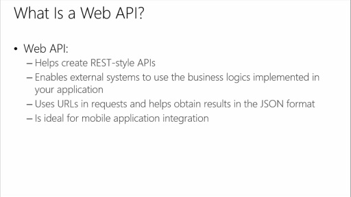 Developing ASP.NET MVC 4 Web Applications: (06) Implementing Web APIs