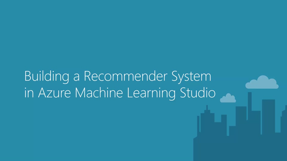 Building a Recommender System in Azure Machine Learning Studio