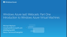 Windows Azure IaaS Series - Part One: Getting Started with Virtual Machines