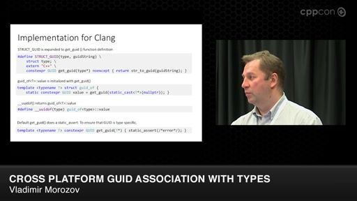 Lightning Talks: Cross Platform GUID Association with Types