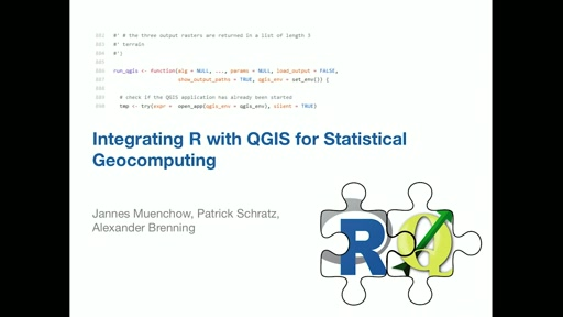 **RQGIS** - integrating *R* with QGIS for innovative geocomputing