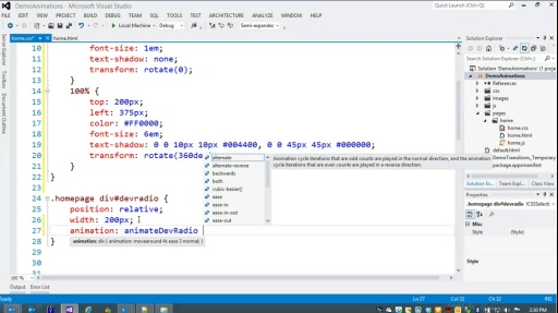 Microsoft DevRadio: Developing for Windows 8 in 1/2 the Time (Part 11) Animations