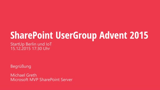 SharePoint UserGroup Advent 2015 - Begrüßung