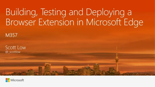 Building, Testing and Deploying a Browser Extension in Microsoft Edge