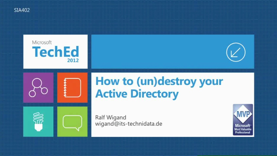 How to (un)Destroy Your Active Directory: Reloaded