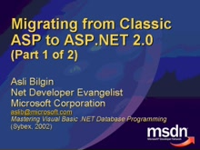 [Migrating from] Classic ASP to ASP.NET
