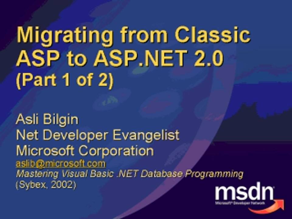 Migrating From Classic Asp To Asp Net Asp Net Site