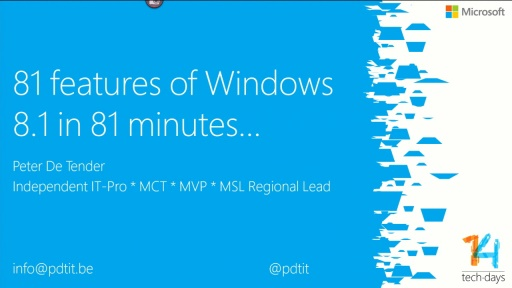 81 features of Windows 8.1 in 81 minutes