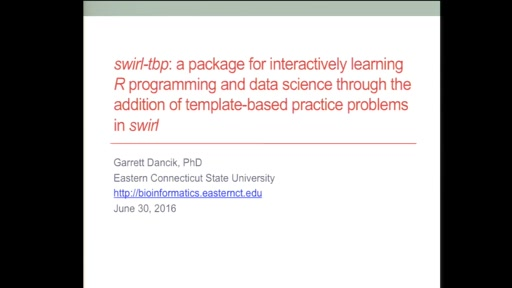 swirl-tbp: a package for interactively learning R programming and data science through the addition of 'template-based practice' problems in swirl