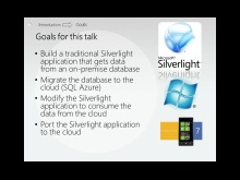 Building Silverlight and Windows Phone Applications that Consume SQL Azure