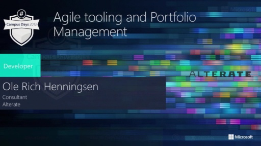 Agile tooling and Portfolio Management