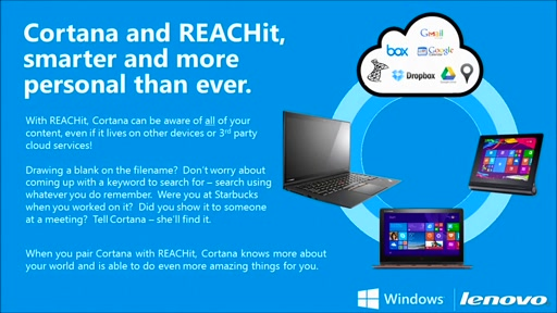 Lenovo: Easy Access to all your stuff with REACHit