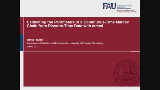 Estimating the Parameters of a Continuous-Time Markov Chain from Discrete-Time Data with ctmcd