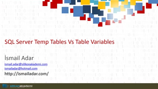 SQL Server Temp Table Vs Table Variable