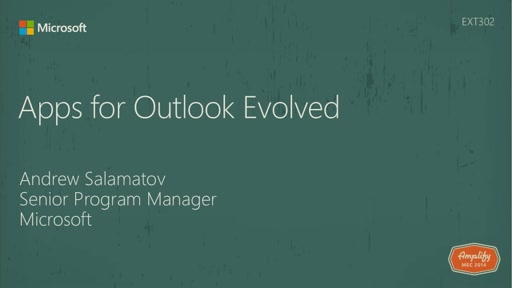 Apps for Outlook Evolved
