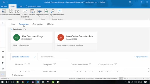 Uso de Outlook Customer Manager en Office 365