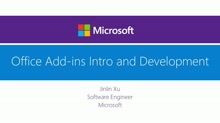 Office Add-ins Intro and Development