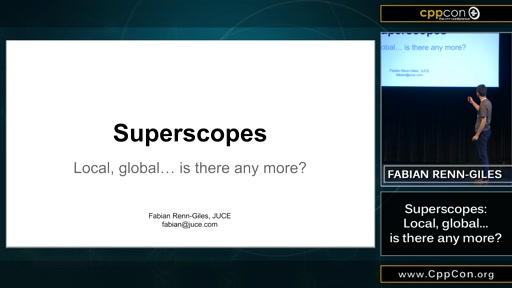 Superscopes: Local, global... is there any more?