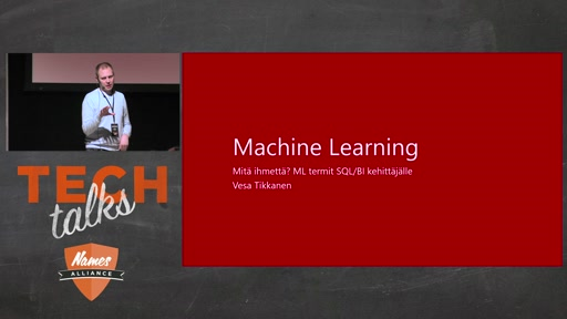 Tech Talks 2016 Flexera Stage Machine Learning