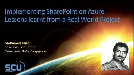 Implementing SharePoint on Azure, Lessons Learnt from a Real World Project