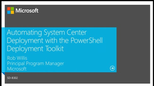 Automating System Center Deployment with the Powershell Deployment Toolkit