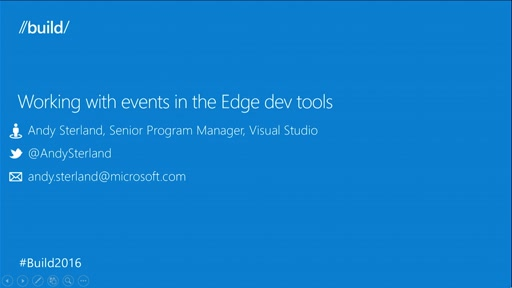 Debugging Events in Edge