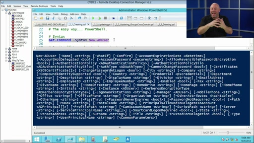 Using PowerShell for Active Directory: (02) Working with Users and Groups