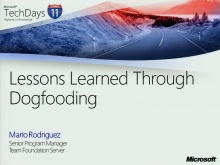 TechDays 11 Basel - Visual Studio ALM: Lessons Learned through Dogfooding