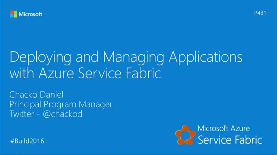 Service Fabric Deploying and Managing Applications with Service Fabric