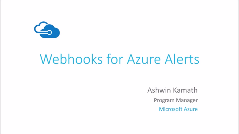 Introduction to Webhooks for Azure Alerts