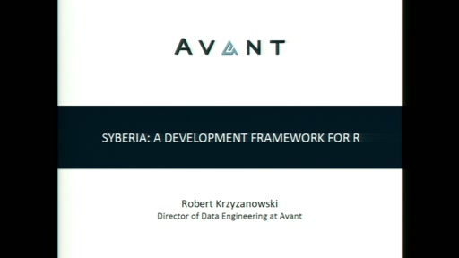 Syberia: A development framework for R