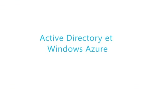 [Cloud IaaS] Active Directory et Windows Azure