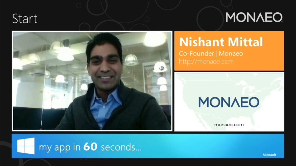 My App in 60 Seconds: Monaeo