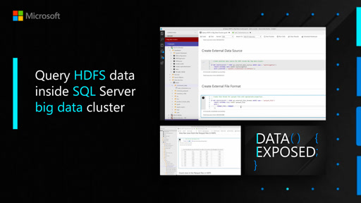 Query HDFS data inside SQL Server big data cluster