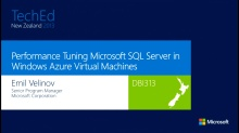 Performance Tuning Microsoft SQL Server in Windows Azure Virtual Machines