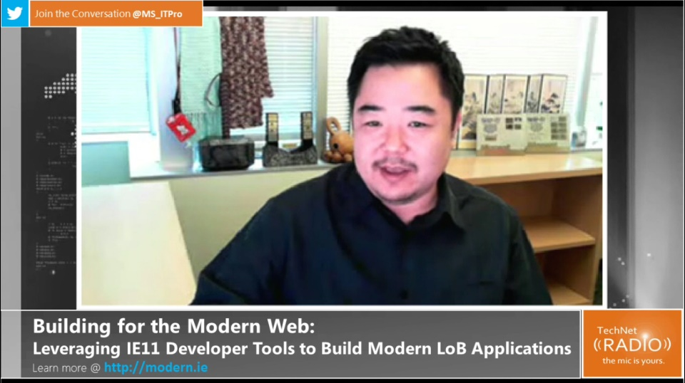 TechNet Radio: Building for the Modern Web - Leveraging IE11 Developer Tools to Build Modern LoB Applications