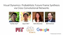 Visual Dynamics: Probabilistic Future Frame Synthesis via Cross Convolutional Networks