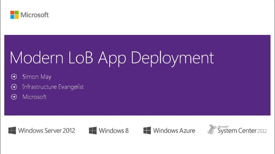(Module 1) Windows 8.1 Modern LoB App Deployment