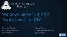 Windows Server 2012 R2: Troubleshooting DNS - WS01