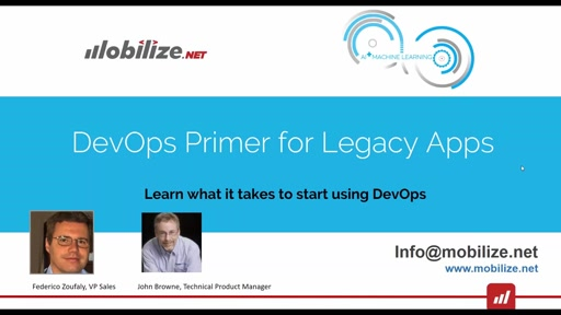 Getting to DevOps with Legacy Apps