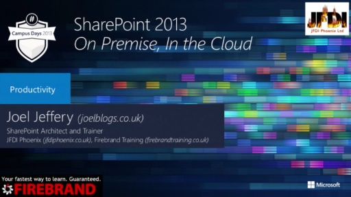 SharePoint 2013 – On Premise, In the Cloud