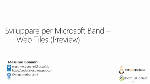 Microsoft Band SDK - Web Tiles (Preview)