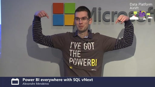 Power BI everywhere with SQL vNext