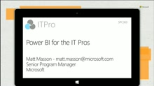 Power BI for the IT Pros