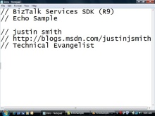 BizTalk Services SDK Echo Sample