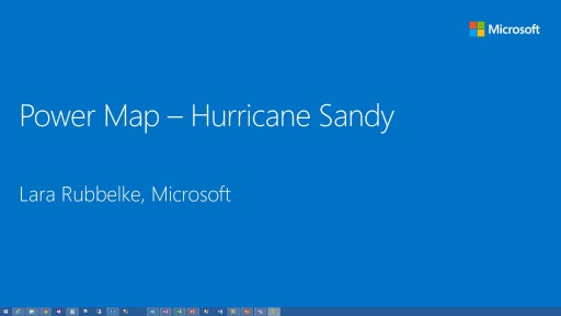 Power BI: Tracking Hurricane Sandy