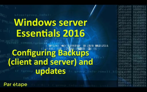 Windows server 2016 essential - backup