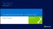 Virtualising SQL Server 2012 – Local and Cloud